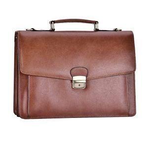 Mens Classic Leather Briefcase Messenger Bags Laptop Handbags Shoulder Bags