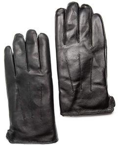Men's Touchscreen Genuine Rex Rabbit Fur Lined Premium Sheepskin Leather Gloves