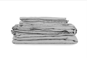 Olive Wren Premium Stone Washed French Linen Bed Sheet