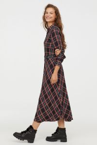 christmas clothes red green plaid dress
