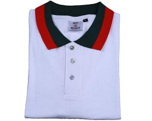 christmas clothes red green polo