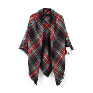 christmas clothes red green scarf