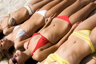 women using aftershave on bikini lines