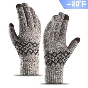 TRENDOUX Cold Proof Thick Knit Winter Gloves for Men and Women