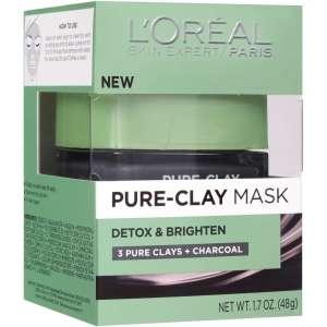 walmart beauty l'oreal paris clay mask