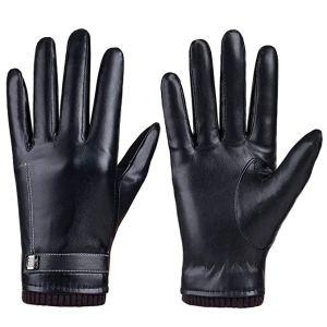 Women's Winter PU Leather Touchscreen Gloves