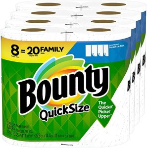 bounty quick size paper towls