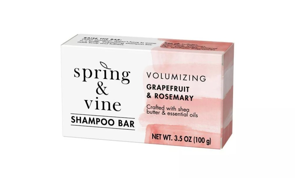 Spring & Vine Grapefruit & Rosemary Volumizing Shampoo Bar