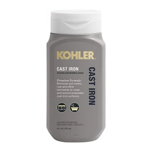 how to clean cast iron kohler