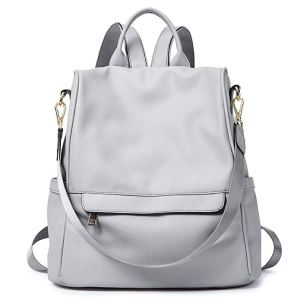 best backpack purses white grey