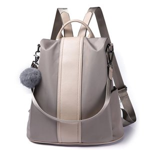 best backpack purses grey leather