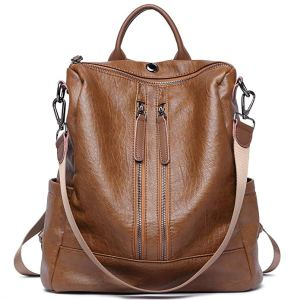best backpack purses brown leather Cluci brand