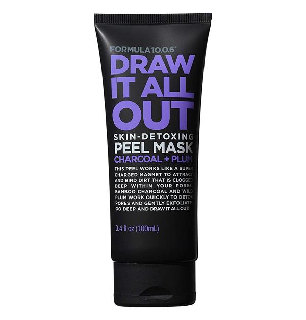 Draw It All Out Skin-Detoxing Charcoal + Plum Peel Mask - best peel off blackhead mask
