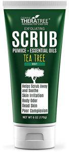 butt acne treatment tea tree scrub