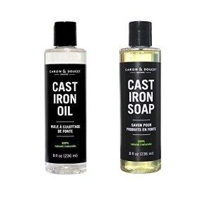 how to clean cast iron oil soap bundle