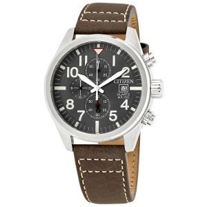 Leather Strap Watch Men's Citizen