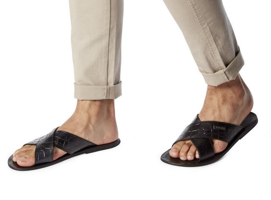 dune leopard print sandals