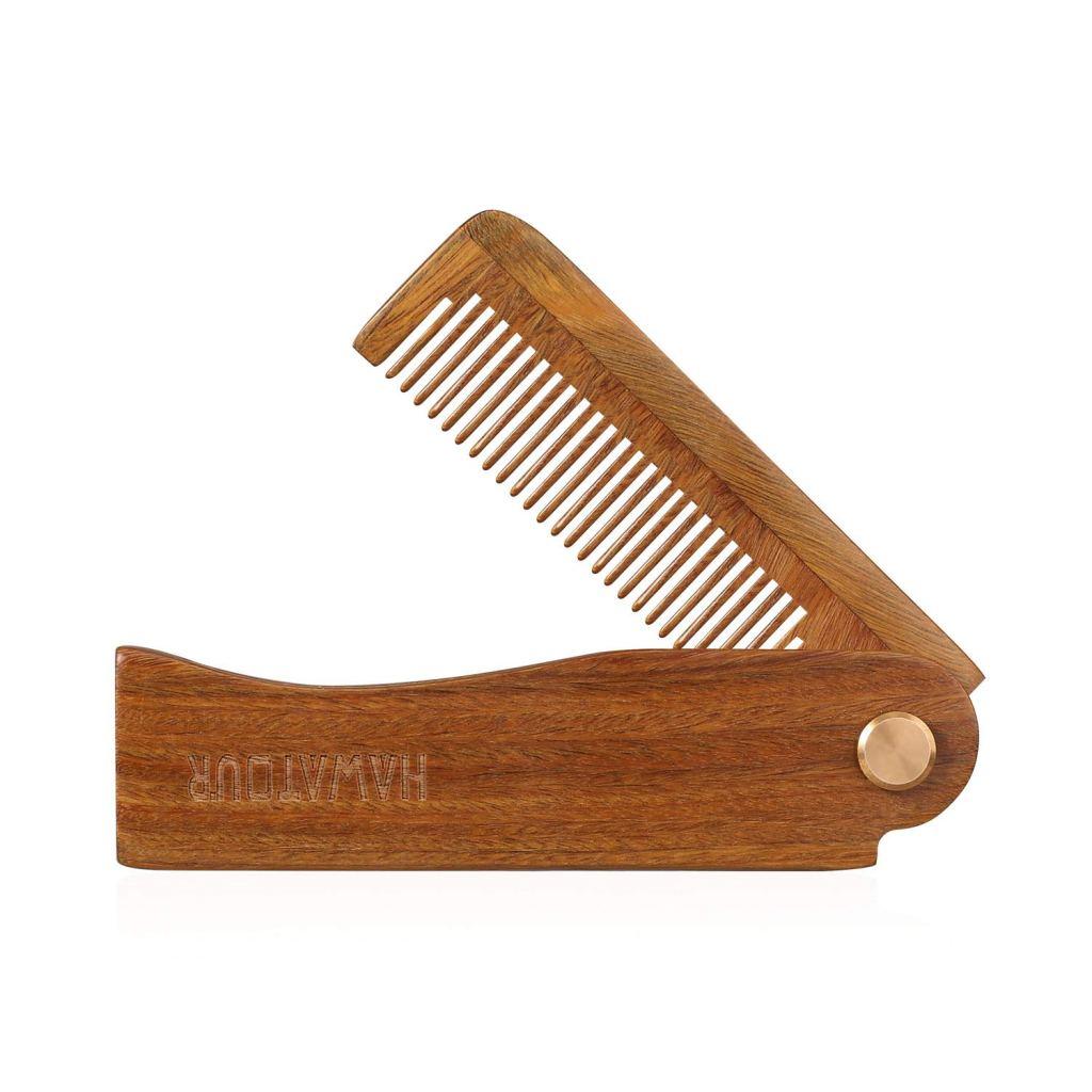 Hawatour Folding Wood Comb