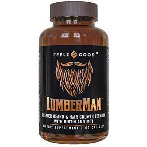 Lumberman Premier Beard and Hair Growth Vitamin Formula