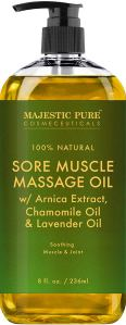 Majestic Pure Sore Muscle Massage Oil for Joints and Muscles