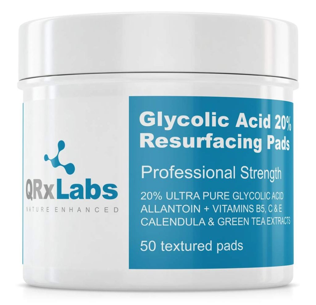 qrxlabs glycolic acid resurfacing pads