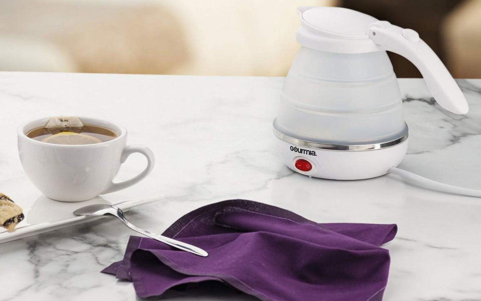 travel kettle collapsible gourmia