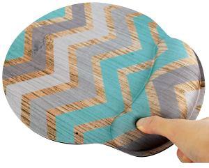 Vintage Chevron Ergonomic Design Mouse Pad with Wrist Rest
