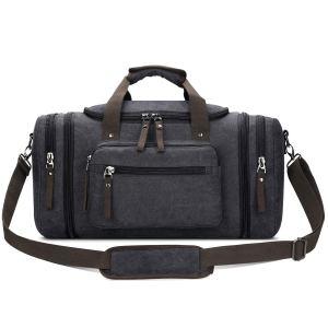 Grey Duffle Bag Pockets