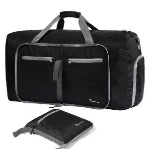 Black Duffel Bag Pockets