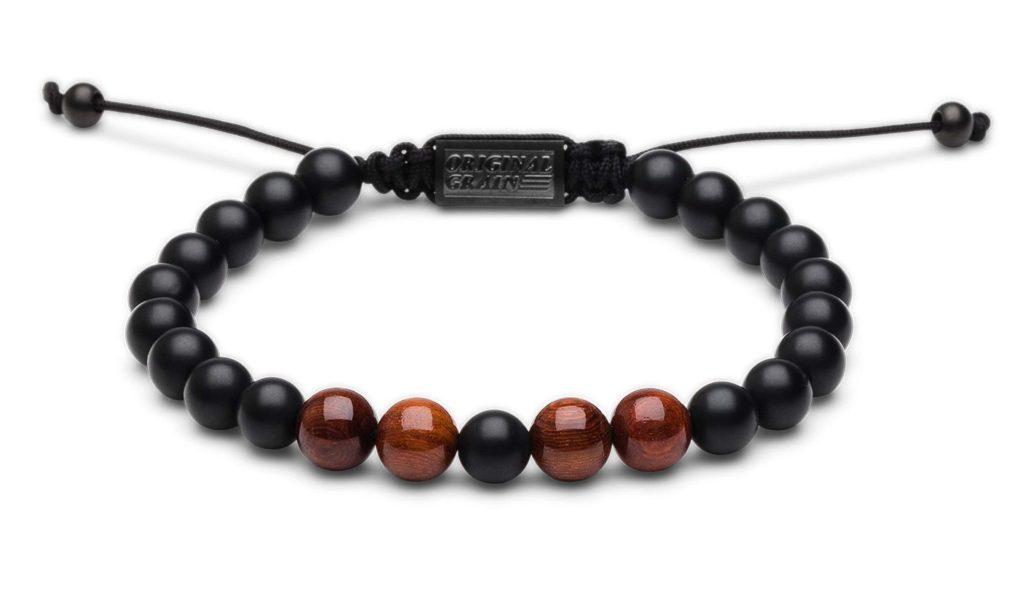 Rosewood onyx bracelet