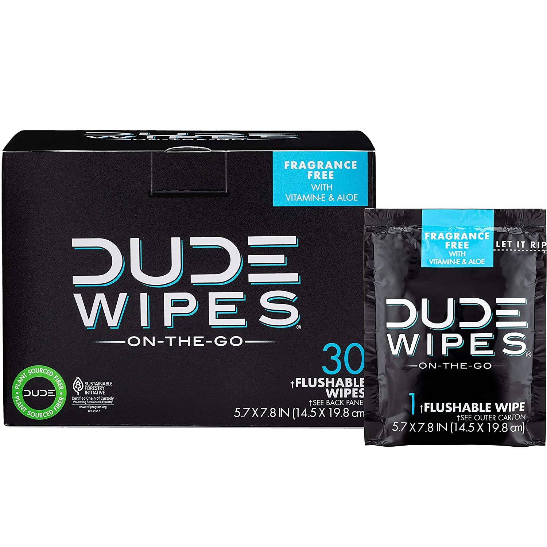 DUDE Wipes Flushable Wet Wipes