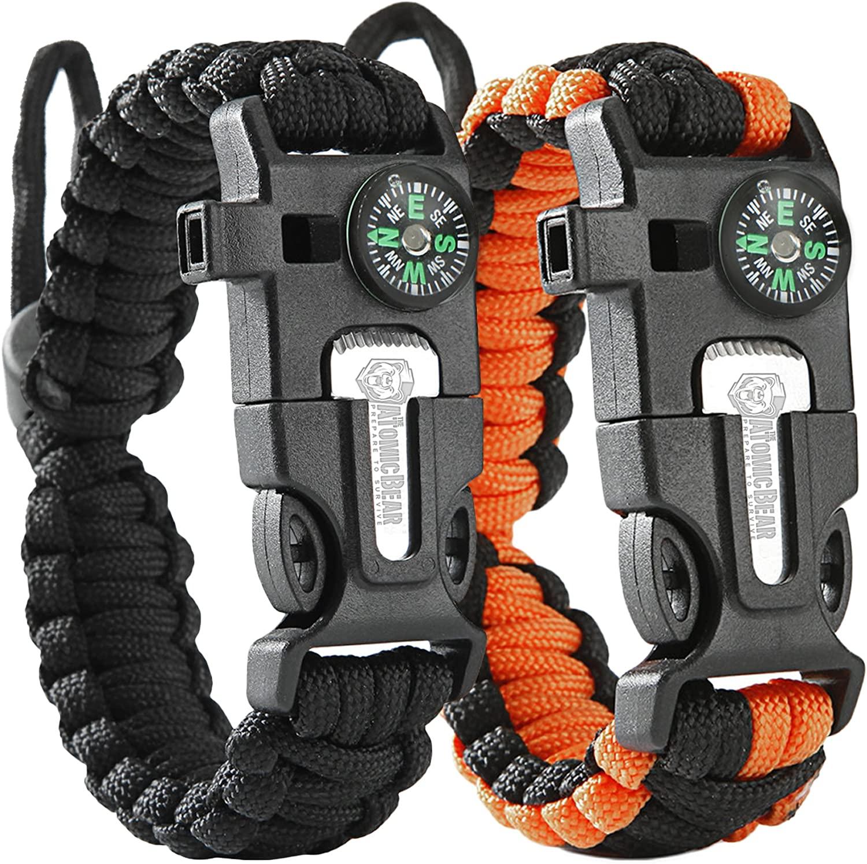 Atomic Bear paracord bracelet two-pack