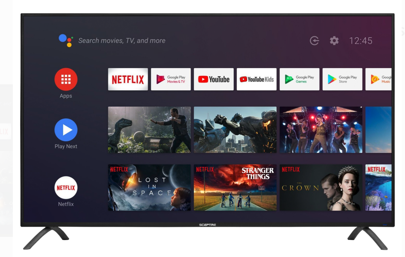 Sceptre 50-inch TV Android TV, best tvs under $200