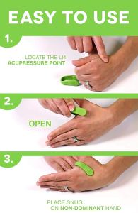 natural remedy for headaches Aculief wearable acupressure