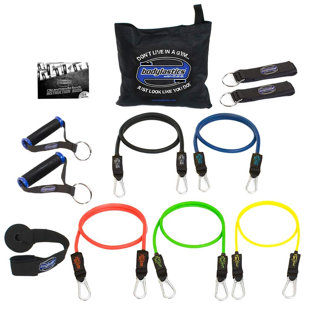 Bodylastics stackable anti-snap tension resistance bands