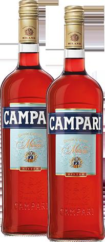 Campari bottles