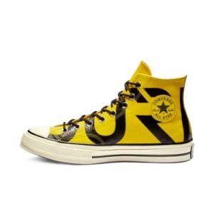 converse yellow high tops