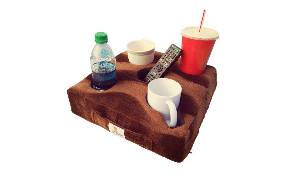cup holder couch pillow