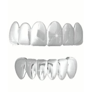 Silver Grillz Teeth Jewelry