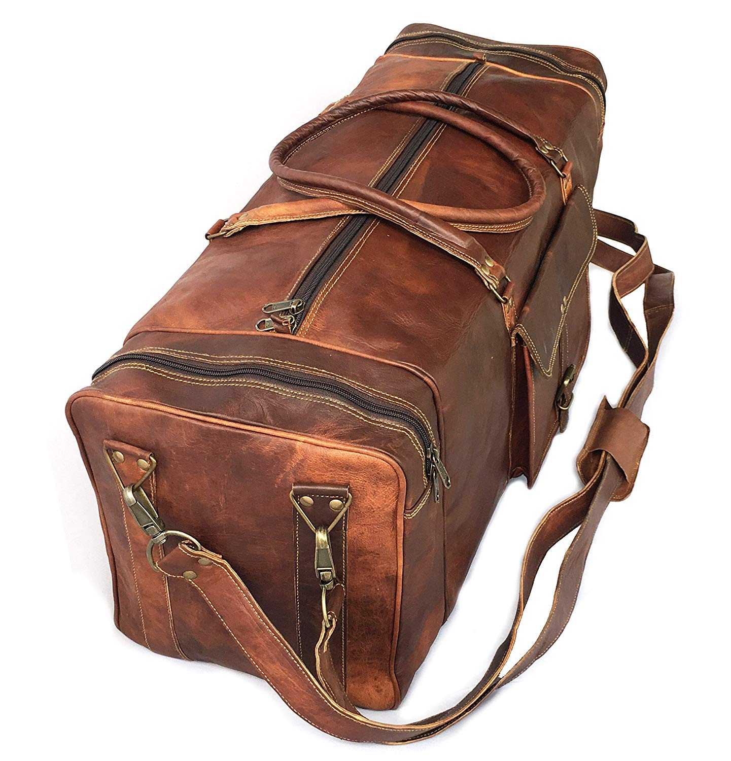 Goat Leather duffel luggage