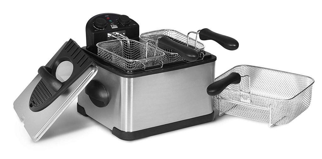 Elite Platinum Stainless Steel Triple Basket Electric Deep Fryer Amazon