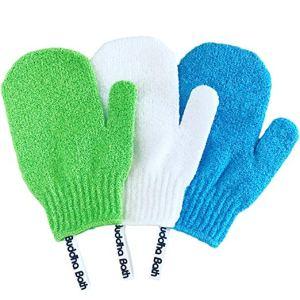 exfoliating gloves best loofah mitts buddha