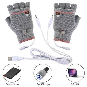 heated gloves mittens woven