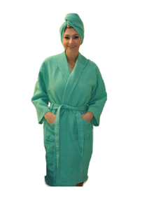 Women's Robe With Turban Kelly Brown International