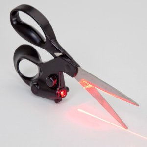 how to cut a straight line laser scissors