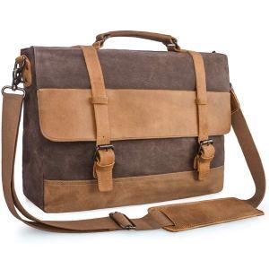Mens-Messenger-Bag-Vintage-Genuine-