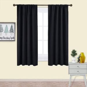 Nicetown-Black-Blackout-Curtain-Blinds-Amazon