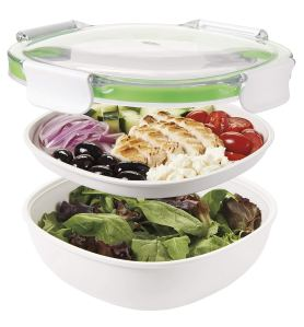 how to make salad on the go container