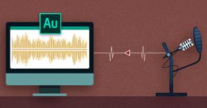 Adobe Audition audio-editing equipment