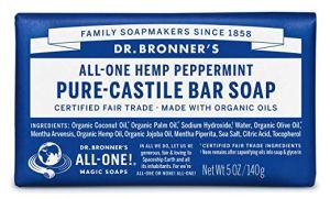 best bar soap men dr. bronner's